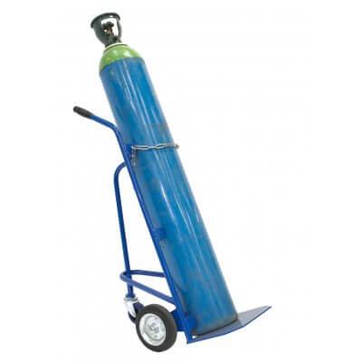 Bottle trolley, fits standard bottles 240mm diameter, solid 200mm rubber tyres