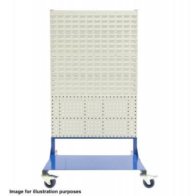 Louvre panel rack 1000 x 1500 with 4 Louvre panels on 100mm Castors
