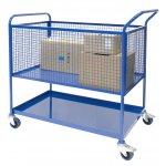 Picking trolley, Lower shelf, Upper mesh basket with Castors