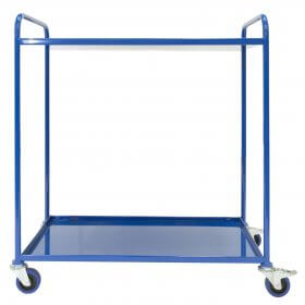 Multi tier Double Tray trolley with 2 trays with castors